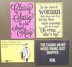 Details About Classy Sassy Smart Assy Woman Devil Kill Kindness Saw Chains Mood Swing Magnet