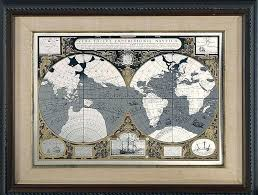 metal world map mcripts a world maps framed etched metal metal world map art