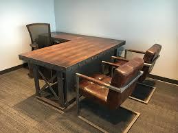 industrial style office desk modern industrial desk. The Hybrid Industrial Executive Office Desk - L Shape #Industrialdesk\u2026 Style Modern G