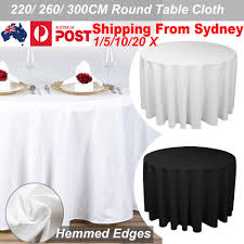 1 20x tablecloths wedding tablecloth round fitted table cloth party event decor