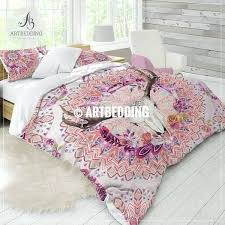 deer skull bedding watercolor duvet set comforter feathers bedroom decor twin r skull comforter