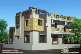 dd antonio design home  Duplex House Plan and Elevation   Sq    Duplex House elevation view   Sq  Ft    Sq M