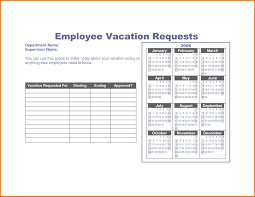 Employee Time Off Request Form Vacation Template Efficient Visualize ...
