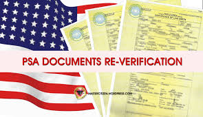 Psa Documents Re Verification For Us Visa Applications