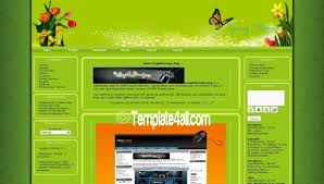 download template for website in php green spring butterfly php fusion theme