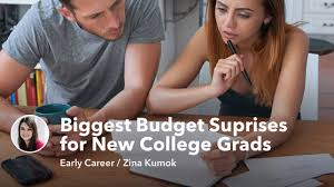 college grad budget the 4 biggest budget suprises for new college grads mintlife blog