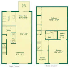 typical two bedroom townhouse