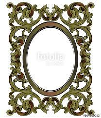 Mirror frame vector Vintage Bronze Decor Mirror Frame With Classic Royal Ornaments Vector Fotoliacom Bronze Decor Mirror Frame With Classic Royal Ornaments Vector