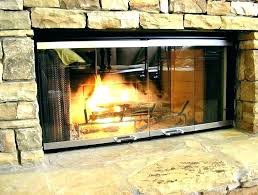 wood burning stove doors fireplace glass door replacement g