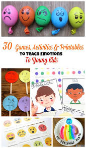 Printed it, had them colored by kids then glued to firm paper and used them to identify the correct emotion in a miming game. 30 Activities And Printables That Teach Emotions For Kids