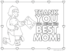 Thank You Mom Coloring Pages Mom Coloring Pages To Print I Love You
