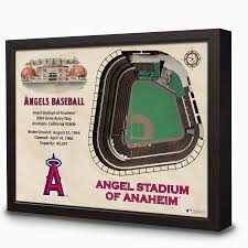 Angels Stadium 3d Seating Chart Los Angeles Angels Angel Stadium 3d View Wall Art In 2019
