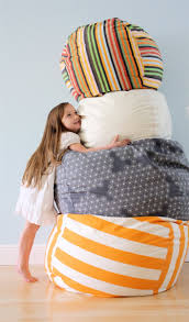 rollie pollie bean bag chair tutorial from made