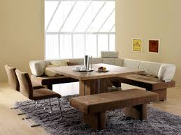 Square Kitchen Table With Bench Dining Room Dining Room Seat Benches Long Mission Style Dining