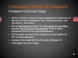 comparing works of literature ppt  comparing works of literature compare contrast essay