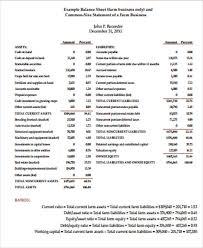 7+ Sample Balance Sheets In Pdf | Sample Templates