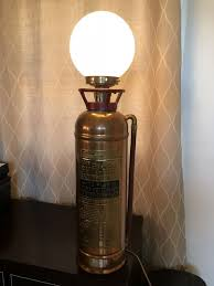 antique fire extinguisher buffalo fire brass copper