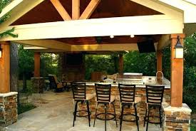 free standing patio cover freestanding with kitchen and fireplace fire pit under covered outdoor porch gas pa