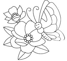 Coloriage Fleur Et Papillon