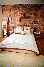 how you could decorate a brick wall behind your bed 31 ideas