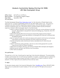 gallery of cover letter graduate sample cover letter for graduate assistantship