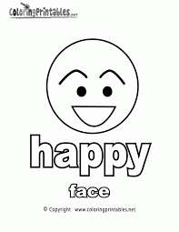 Small Picture Happy Face Coloring Pages For Kids Coloring Home