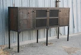 industrial metal and wood furniture. Tall-leg-reclaimed-wood-buffet-sideboard-5320 Industrial Metal And Wood Furniture