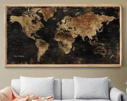 world map wall art vintage world map poster wall world map poster retro world map wall home decor old style world map l153  on wall art old picture frames with world map wall art etsy