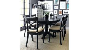 round dining table set with leaf extension black round extension dining table reviews crate and barrel
