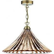 dar lighting ardeche 1 light large pendant amber glass antique brass