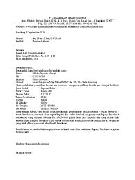 Contoh Surat Penarikan Kendaraan Berupa Motor