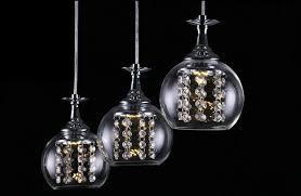 3 lights new modern crystal wineglass