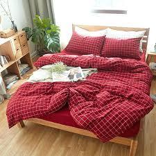 bright comforter sets bedding sets twin full queen cotton elegant bedroom series bright red checks duvet doona cover and solid black bright orange comforter