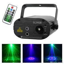 Laser Light Party Machine Aucd Party Lights 3w Mini 24gb Green Blue Gobos Laser Led Light Portable Machine For Dj Club Stage Lighting Sl24gb Lazer Show Lazer Pointers From