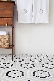 the tile floor