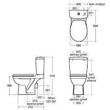 Design Standard Toilet Dimensions Dimensions Of Wellness A