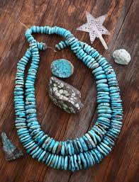 free form graduated turquoise disc beads 16 strand