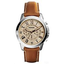 fossil watches men s ladies official fossil h samuel fossil men s grant chronograph brown leather watch product number 6407099
