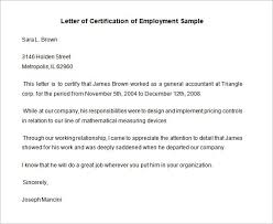 Employment Certification Letter Template Costumepartyrun