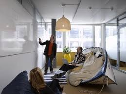 in every facet of googles office they show their commitment to innovation and new thinking from the quartz stone flooring thats more durable than wood atmosphere google office