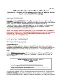 Catering Contract Samples Free Catering Contract Template Word Microsoft Agreement