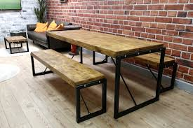 industrial furniture style. Terrific Industrial Style Dining Table In With Steel Frames And Reclaimed Wood Interior Furniture .