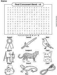 *the free beginning blends worksheets can be downloaded towards the end of. Final Consonant Blends Rd Word Search Ending Blends Worksheet