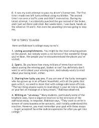 College Essay About Myself Short Essays Examples Dew Drops