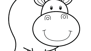 Excellent Hippopotamus Coloring Page Free Printable Hippo Pages