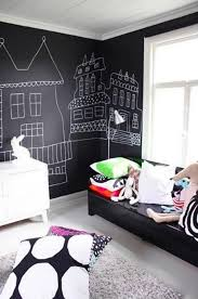 ... Eclectic bedroom with a chalkboard paint wall behind the headboard  [From: A Darling Felicity