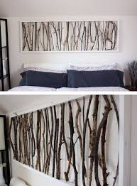 >36 easy diy wall art ideas to make your home more stylish  simple framed twig homemade wall art