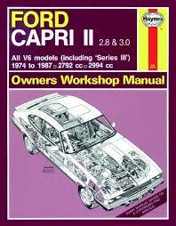 ford capri 2 8 i wiring diagram ford image wiring haynes manual ford capri ii iii 2 8 3 0 v6 1974 1987 on ford capri