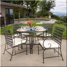 metal outdoor dining chairs. Patio Dining Set 5 Piece Round Table Chairs Black Metal Outdoor Garden Furniture I