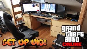 huge desk. *NEW* Set-Up Video - College HUGE DESK Setup! (GTA 5 Online Battlestation) YouTube Huge Desk P